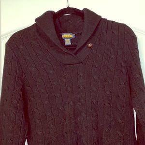 Rugby by Ralph Lauren Shawl Collar Sweater Dress